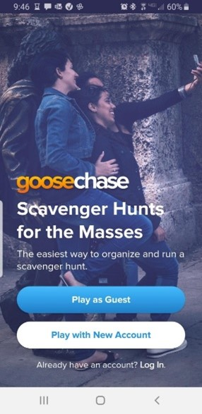 GooseChase splash screen