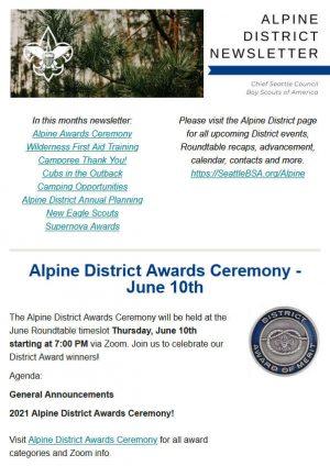 Alpine District Newsletter 598x847