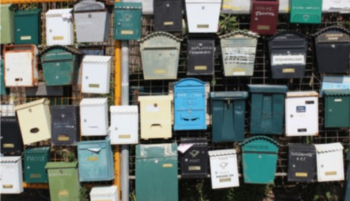 A bunch of mailboxes